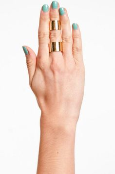 gold double cuff ring #tobi