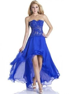 Royal Blue High Low Prom Dress_Prom Dresses_dressesss