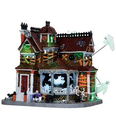 35548 - Last House on the Left, Set of with Adaptor - Lemax Spooky Town Halloween Village Houses & Buildings Halloween House, Holidays Halloween, Halloween Stuff, Halloween Ideas, Lego Halloween, Halloween Queen, Halloween Quilts, Halloween Party, Halloween Costumes