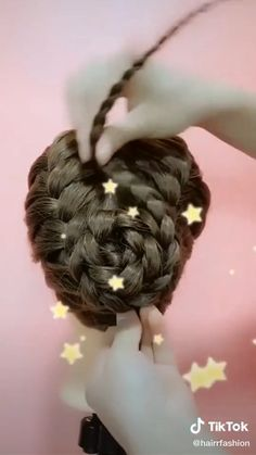 Easy Hairstyles For Long Hair, Fancy Hairstyles, Scarf Hairstyles, Girl Hairstyles, Braided Hairstyles, Girl Hair Dos, Hair Up Styles, Elegant Wedding Hair, Braid Hair