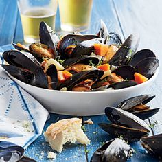 Steamed Mussels with Root Vegetables - Mussel Recipes - Coastal Living Mobile