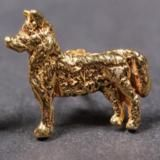 Siberian Husky gold-plated EARRINGS (studs)