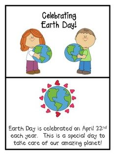 Earth Day Hooray- freebie