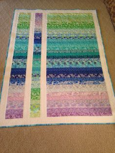 image | Flickr - Photo Sharing! Easy!  Strips sewn, then cut and the center one upside down.
