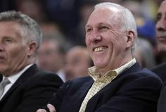 San Antonio Spurs Gregg Popovich- Its great to see him smile for once. <3 Pop Spurs Coach, San Antonio Spurs, Gregg Popovich, Denver Broncos, Spurs Fans, Nba Season, Nba Champions, Basketball Teams, Sports Teams