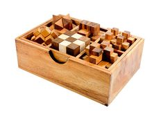 6 Games Wooden Puzzle Set by StragaProducts on Etsy, $21.00