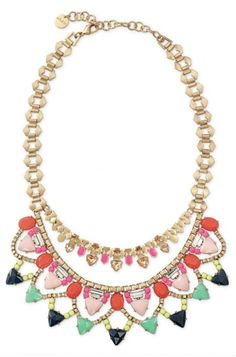 Blue & Green Bib Necklace | Fanella Statement Necklace http://www.stelladot.com/sites/amyharrell