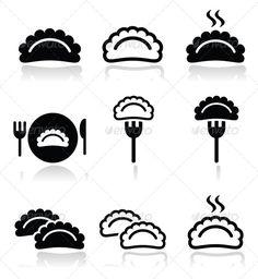 Realistic Graphic DOWNLOAD (.ai, .psd) :: http://vector-graphic.de/pinterest-itmid-1007812418i.html ... Dumplings Food Icons Set ...  asian food, boil, dough, dumpling, eastern european, eat, food, fork, icon, isolated, japanese, poland, polish food, ravioli, recipe, restaurant, steam, vector, warm  ... Realistic Photo Graphic Print Obejct Business Web Elements Illustration Design Templates ... DOWNLOAD :: http://vector-graphic.de/pinterest-itmid-1007812418i.html