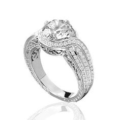 www.diamondconnectiononline.com Call today to order 6192968900 #EngagementRing by: #BeverlyK Style: R226(A)(WF)-D,D,CZ