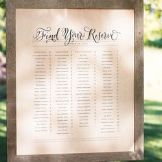 Seating Chart Idea