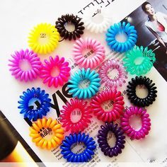 New Arrival Cute Girls Elastic Hair Ties/Rope Bands Hair Telephone Line hair accessories Hair band Hairpin baffle Flower headdr