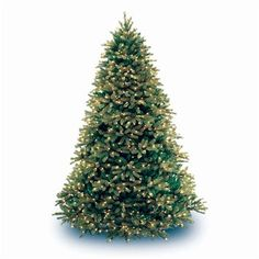 """National Tree PEJF1-300-75 7 1/2' """"Feel-Real"""" Jersey Fraser Fir Hinged Tree with 1250 Clear Lights"""