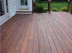 Mahogany decking, treated with Cabot's Australian Timber oil.