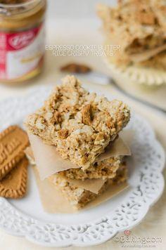 Espresso Cookie Butter Rice Crispy Treats