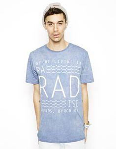 Enlarge Afends Pa-rad-ise T-shirt In Acid Wash