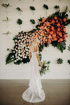 3 Wedding Decor Trends And 26 Examples For 2019 - Hochzeitskleid Ideen Wedding Ceremony Ideas, Ceremony Backdrop, Wedding Seating, Wedding Trends, Wedding Designs, Wedding Blog, Diy Wedding, Orange Wedding, Fall Wedding Colors