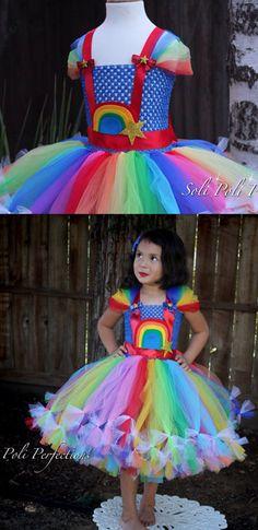 Rainbow Tutu with finishing details. #affiliate