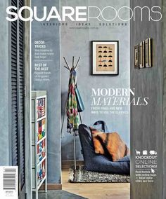 Picking materials for your home can be tricky and confusing, but in our May issue, we've got an easy, visual buying guide to the latest surfaces in the market. We're also sharing tips from experts on how to make your rooms look bigger with different . Best Home Interior Design, Interior Design Magazine, Decorating On A Budget, Interior Decorating, Room Magazine, Decoration For Ganpati, Modern Materials, Wall Treatments, Interior Inspiration
