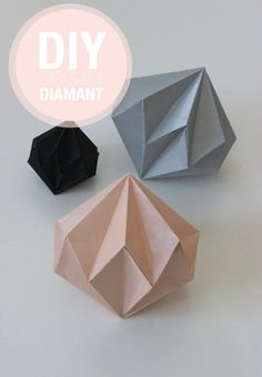 Diamant i sort, sart rosa og grå