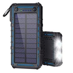Solar Charger Power Bank with 2 LED Flashlight Solar Panel Cost, Solar Panels, Solar Powered Fan, Solar Attic Fan, Renewable Sources, Solar Water, Solar Charger, Solar Energy System, Led Flashlight