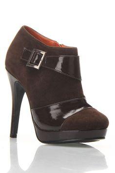 Brown Bootie Heel.