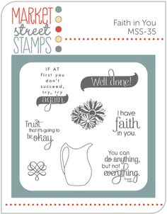 Market Street Stamps - Faith In You, $6.00