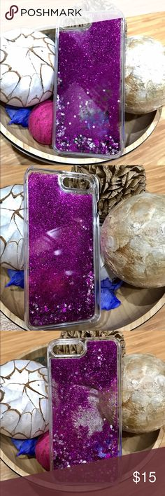 2for156s+/7+ Hard Clear Case w/ Glitters Purple Will fit for iPhone 6s+ or iPhone 7+ Hard Clear Case Glitters Purple/Stars. Brand New! 1 for 9 or 2 for 15 , just tell me which color you want and the size.. Accessories Phone Cases