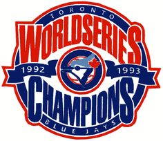 Toronto Blue Jays Champion Logo (1994) - 1992 & 1993 World Champions