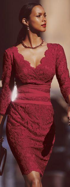 Tadashi Shoji. I wanna wear a lace dress to the next wedding.