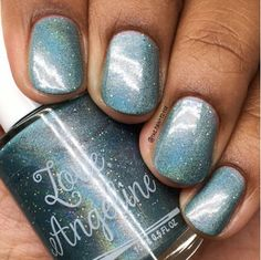 August's LE Monthly is a light aqua with holo micro glitters and a mix of flakies! Beauty Companies, My Nails, Swatch, Nail Polish, Nail Art, Love, Glitters, Diaries, Aqua