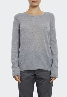 Extra Fine Cashmere Tee With Pointelle