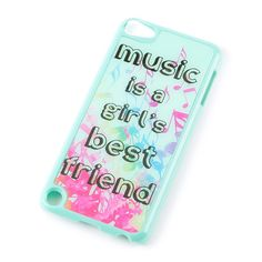 Music is a Girls Best Friend Cover for iPod Touch 5 Ipod Covers, Ipod 5 Cases, Ipod Touch Cases, Cute Phone Cases, Iphone Cases, Ipod Cases For Girls, Tablet Cases, Iphone 7, Phone Cases