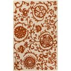 Rhodes Maggie Rust (Red) 8 ft. x 10 ft. Indoor Area Rug