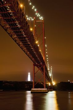 Suspension Bridge With River Tagus At Night | Lisbon | Portugal | Photo By Westen61