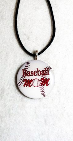 Baseball Mom Necklace Sports Pendant Jewelry Team gift on Etsy, $10.00
