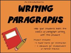 Oftentimes, students need explicit instructions on how to complete seemingly simple tasks. Writing a paragraph is one of these tasks that teachers often assume students can successfully accomplish, when many of them struggle. This mini unit breaks down the process of writing a paragraph (with a topic sentence, supporting detail sentences and concluding sentences) into simple, understandable terms to which students can relate. This is a ready-to-go unit!!!: