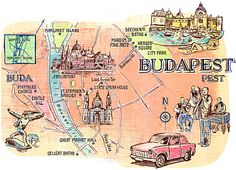Jacqui Oakley - Budapest map