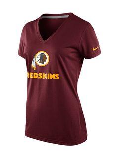 2d3774bf5 Nike Women s Short-Sleeve Washington Redskins V-Neck T-Shirt Men - Sports  Fan Shop By Lids - Macy s