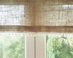 Cortinas de arpillera coloreada cortinas de por AJRUSTICCREATIONS Más