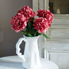 Faux Pink Crimped Hydrangea - New In - Home Decoration - Home Accessories
