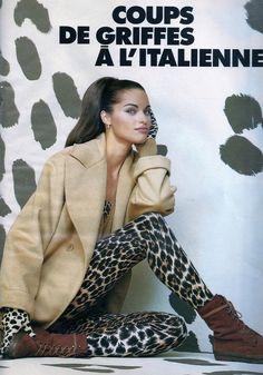 'Coups De Griffes A L'Italienne' from…………Elle France October 1992 feat Yasmeen Ghauri & Marielle MacVille