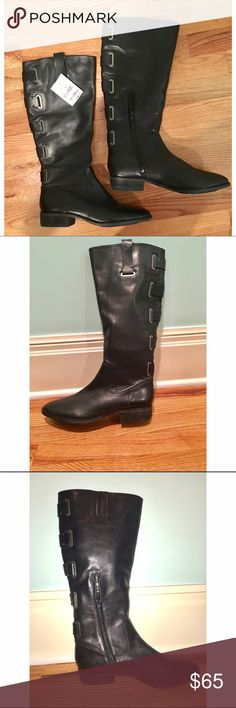 Arturo Chiang Riding Boots Brand new beautiful black riding boots. The side tabs make these boots easy to pull on. They can be worn casually or be dressed up! Shoes Heeled Boots