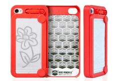 iFoolish Magic Drawing iPhone 4 Case |Gadgetsin A mini Etch-a-Sketch for iPhone :)