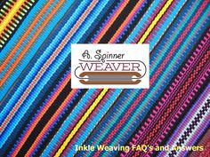 Inkle Weaving FAQ's and Answers by ASpinnerWeaver on Etsy