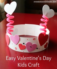 Valentine's Day Party Activities – events to CELEBRATE! Valentine's Day Party Activities – events to CELEBRATE!,Kids Valentine's Day Valentines Day Kids Craft – eventstocelebrate… Related Best DIY Valentine's Day Decor Ideas - Valentine. Valentine's Day Crafts For Kids, Valentine Crafts For Kids, Valentines Day Activities, Daycare Crafts, Valentines Day Party, Craft Activities, Preschool Crafts, Valentine Hats, Valentines Crafts For Kindergarten