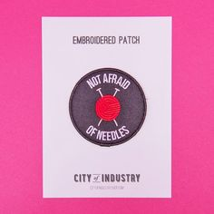 """PRODUCT DESCRIPTION      For your sewing bag or your denim jacket, this City of Industry patch says it all. Embroidered twill patch with iron-on backing, 3"""" x 3""""."""