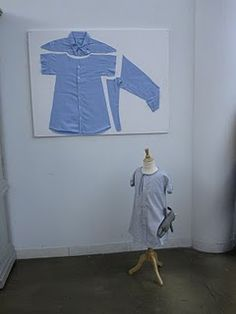 men's shirt refashioned to toddler dress