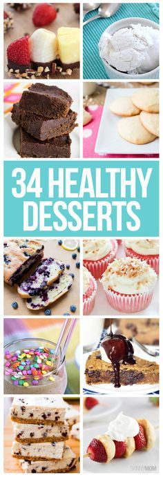 34 healthy desserts you'll love!