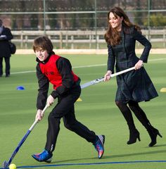 Kate Middleton at St. Andrews - playing field hockey!