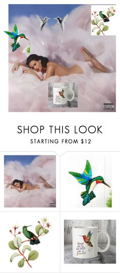 """""""hummingbird"""" by nihadniks ❤ liked on Polyvore featuring beauty, Crate and Barrel and Giftcraft"""